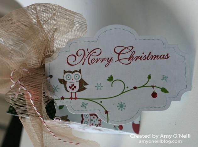 Christmas Owl Tag
