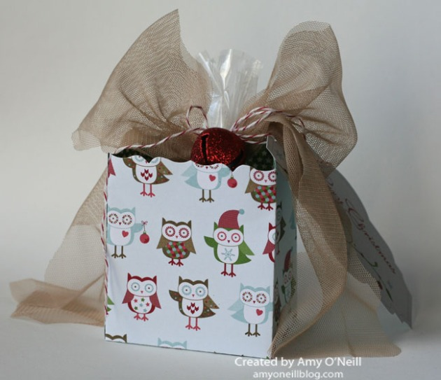 Christmas Owl Treat Sack