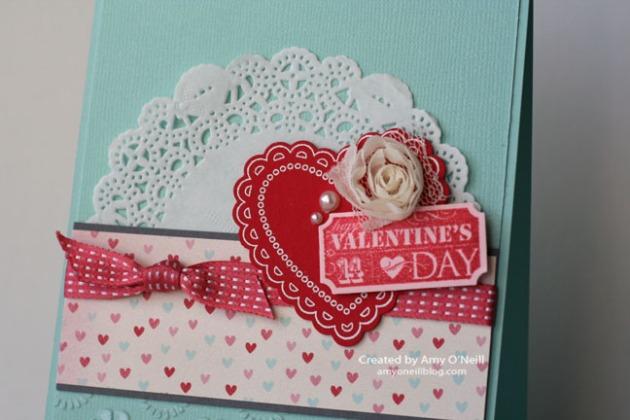 Doily Lacy Valentine close-up