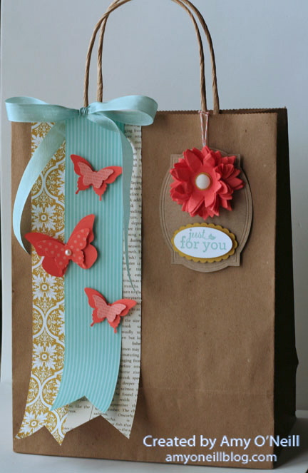Posies and butterflies on a bag
