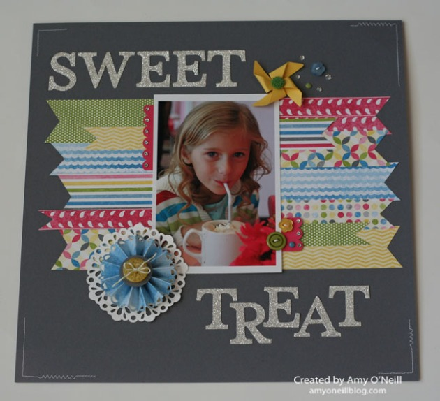 Sweet Treat scrapbook page