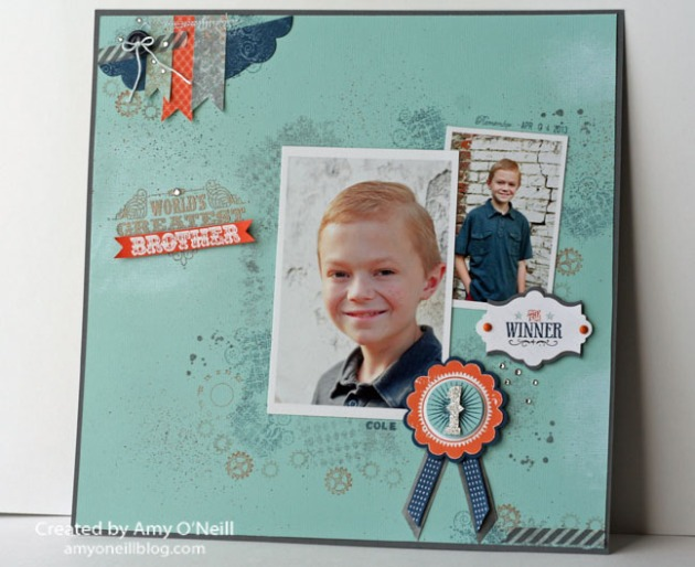 Artisan Brother Scrapbook Page