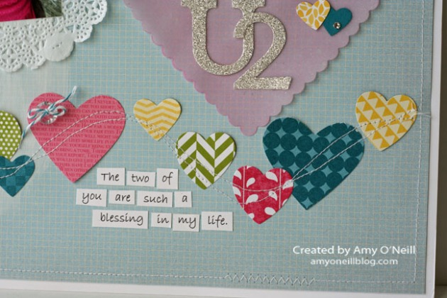 Artisan Love U2 Scrapbook Page Close Up 1
