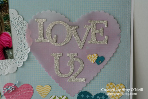 Artisan Love U2 Scrapbook Page Close Up 3
