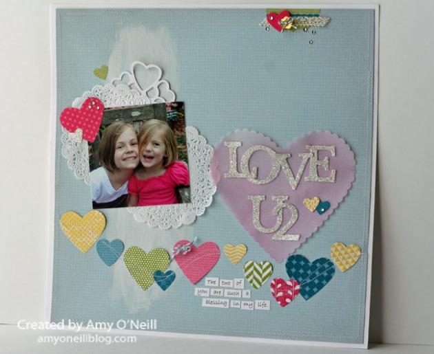 Artisan Love U2 Scrapbook Page