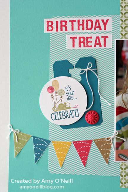 Tag It Display Scrapbook - Close Up