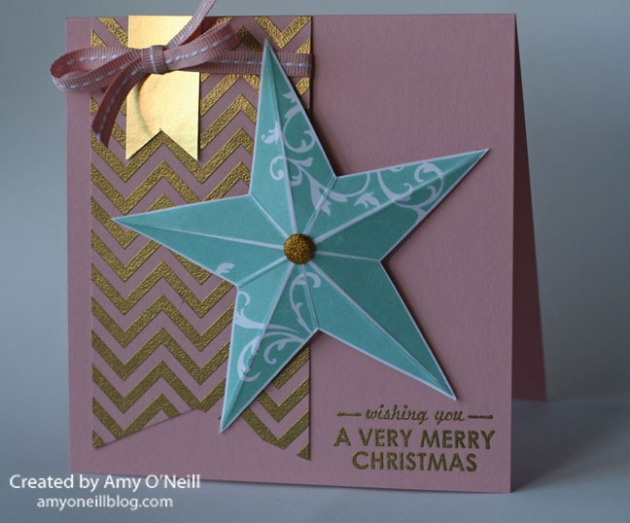pink and gold star card copy