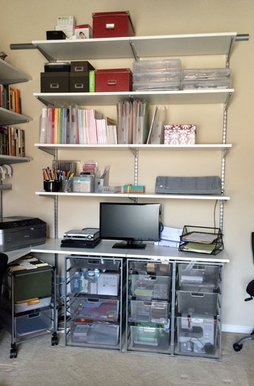 office -- craft storage space