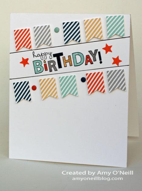 Simple Birthday Banner Card