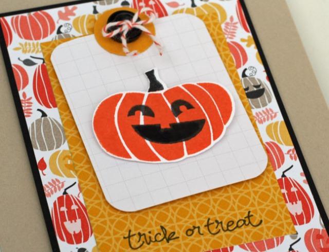 trick or treat pumpkin close up