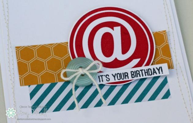 Ampersand Birthday Close Up