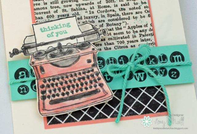 Little Pink Typewriter Close Up