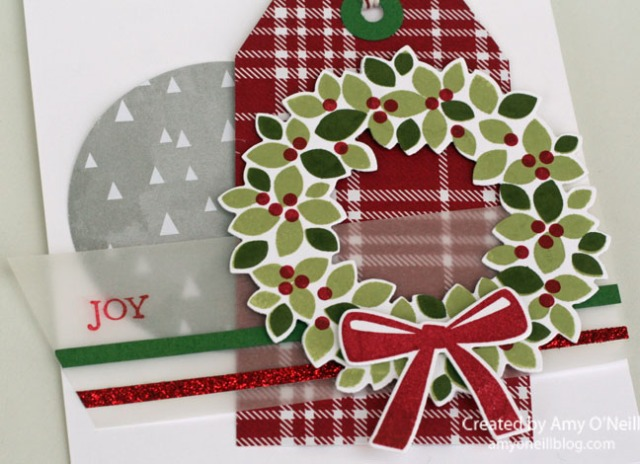 Flannel Wreath Close Up