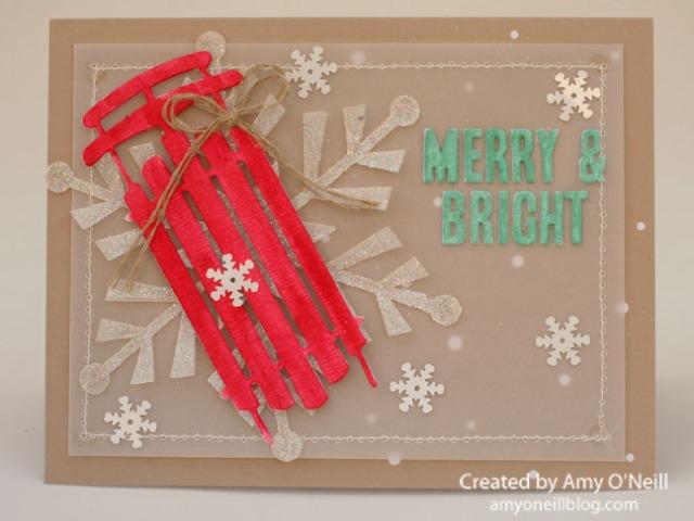 Merry & Bright Sled 2
