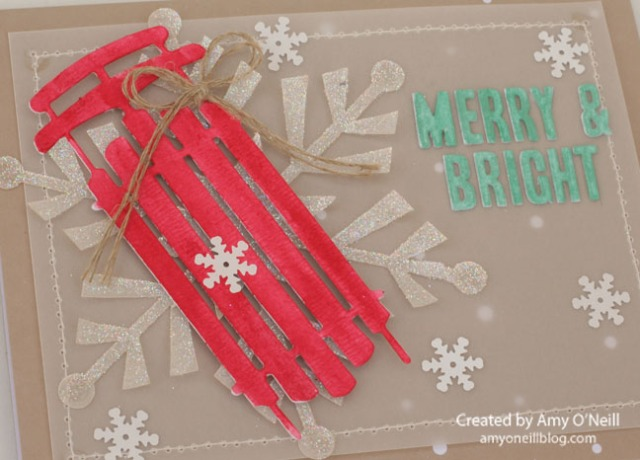Merry & Bright Sled Close Up 2