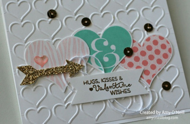 Embossed Hearts Close Up