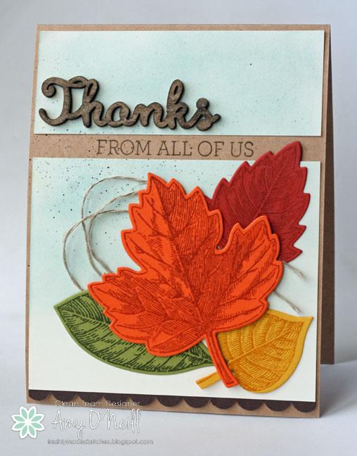 Vintage Leaves Thanks