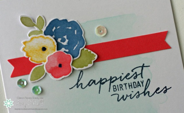 Watercolor Birthday Wishes Close Up