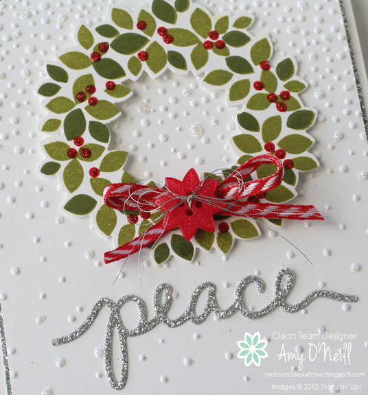 Silver Wreath Peace Close Up