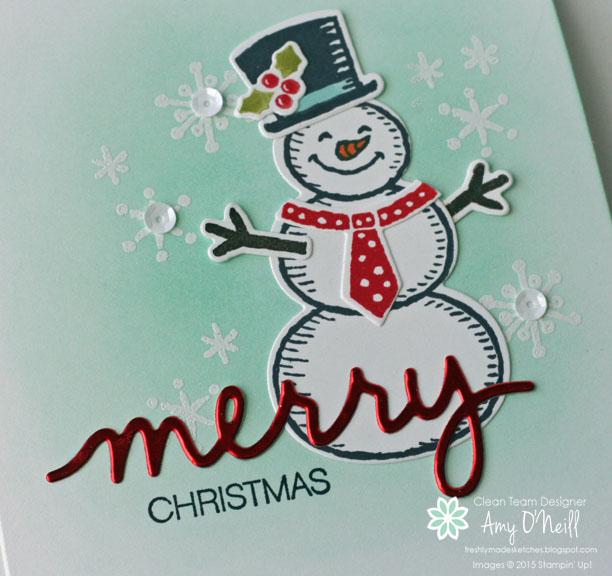Merry Snowman close up