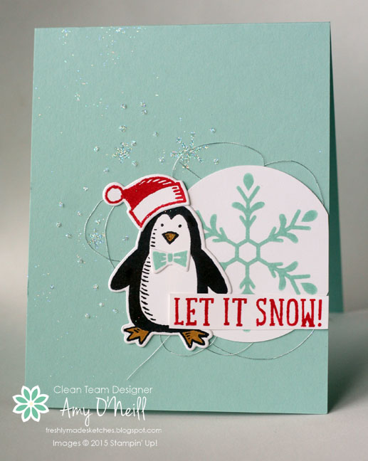 Snowflakes and Penguin
