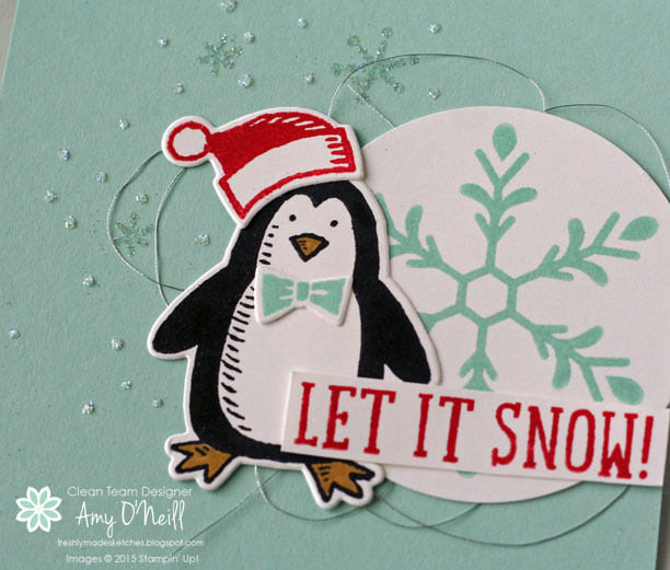 Snowflakes and Penguins Close Up