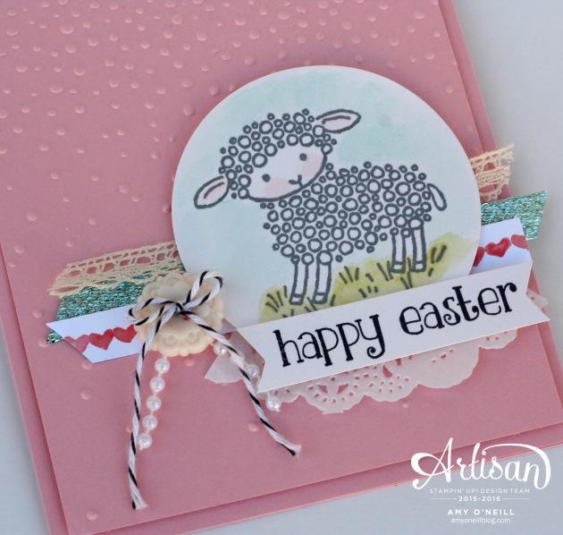 Easter Sheep Card Close Up
