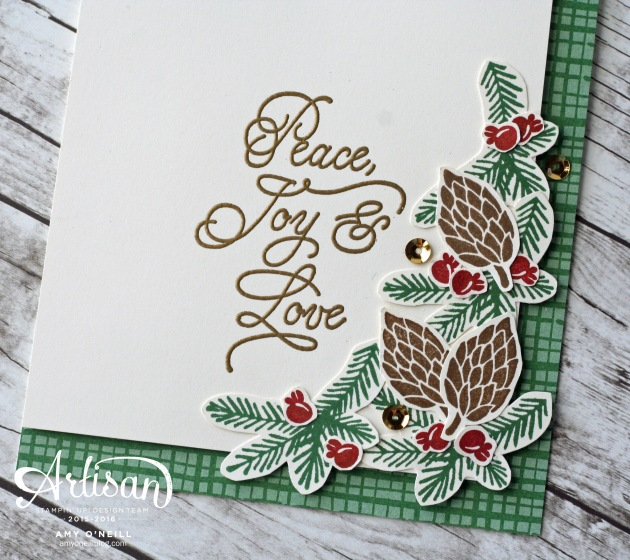 Christmas in July card close up