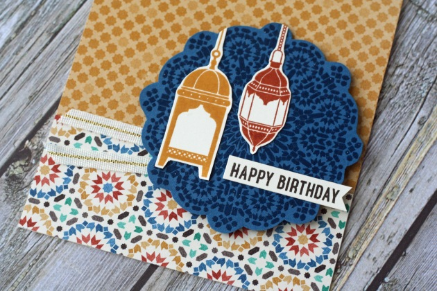 Happy Birthday Moroccan Lights Close Up