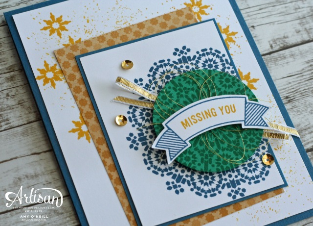 Moroccan Banners Card Close Up
