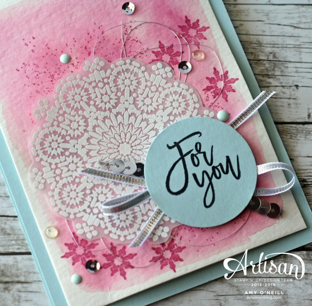 Moroccan Frosty Nights Card Close Up